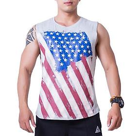 Áo Tank-top Tập Gym Nam Fitme Cotton FAGMCT-XA (Xám)
