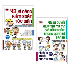Combo Sách Mẹ Nhật Nuôi Dạy Con - Kinh Ngiệm Từ Nước Nhật: 42 Bí Quyết Giúp Trẻ Tự Tin Và Dũng Cảm Trong Quan Hệ Bạn Bè + 43 Kĩ Năng Kiểm Soát Tức Giận - ( Kĩ Năng Xã Hội Của Trẻ Em / Tặng Kèm Postcard Siêu Dễ Thương )
