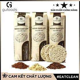 Bánh gạo lứt ăn kiêng GUfoods (500g = 54 bánh) - Mix 3 vị (Yến mạch + Huyết rồng + Tím than) - Hỗ trợ Giảm cân, Tập Gym, Thực dưỡng, Eat clean