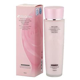 Sữa dưỡng ẩm và ngừa lão hóa từ hương hoa- 3W CLINIC Flower Effect Extra Moisturizing Emulsion - Hàn Quốc Chính Hãng