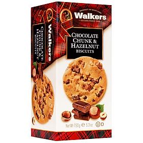Bánh Quy Socola Hạt Dẻ Walkers Choc Chunk & Hazelnut (150g)