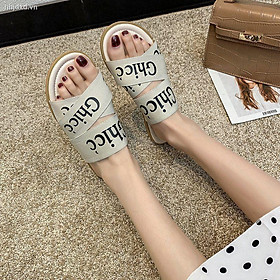 ☋35-42 size women s shoes new holiday slippers women wear handsome European and American letters net red sandals 41