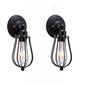 Combo 2 đèn treo tường rọ sắt dáng quả lê TU001 - đèn cao cấp