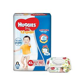 Tã quần Huggies Super Jumbo M74 - L68 - XL62 - XXL56 [Tặng khăn ướt 64 tờ]