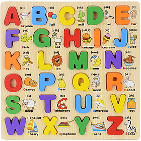 Bảng lắp ghép chữ cái và chữ số tiếng anh cho bé học tiếng anh Sớm