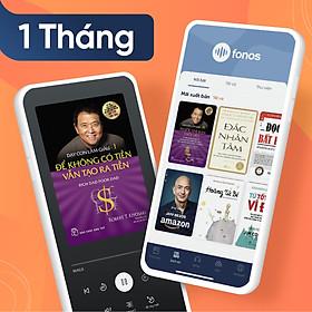 Gói Hội viên Ứng dụng sách nói Fonos: Gói 1 tháng