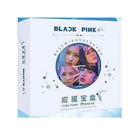 Hộp quà tặng VIỀN TRÒN Blackpink HOW YOU LIKE THAT có poster postcard bookmark banner huy hiệu thiếp ảnh dán album ảnh