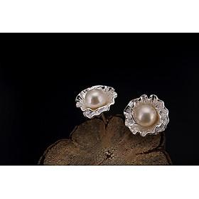 Bông tai ngọc trai nước ngọt kiểu hoa BT160