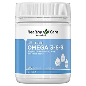Viên uống hỗ trợ tim mạch và huyết áp Healthy Care Ultimate Omega 3,6,9 chính hãng Úc mẫu mới