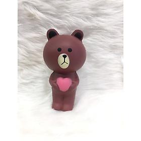 Squishy gấu nâu, squishy chậm tăng mùi thơm dịu nhẹ, đồ chơi cho bé trai và bé gái  - 4