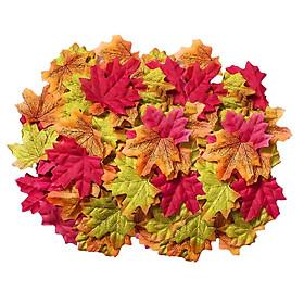 400pcs Artificial Maple Leaves Autumn Fall