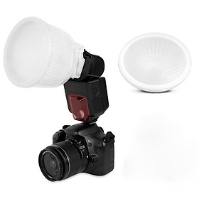 Millionaccessories Universal Cloud lambency flash diffuser + White dome cover and fits all flashes