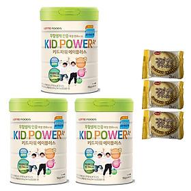 Combo 3 hộp Sữa bột KID POWER A+ Hàn Quốc 750G ( cho trẻ từ 1-10 tuổi) - Tăng cường sức đề kháng, phát triển chiều cao và trí não – Tặng 3 bánh quy Nhật Bản hiệu Aee