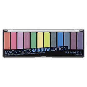 Rimmel Magnifeyes Eyeshadow 12 Pan Palette Rainbow