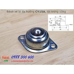 Bánh xe dẫn động đa hướng dạng bi tròn bằng thép CY15A, CY25A, CY30A, tải trọng 10kg, 30kg và 65kg