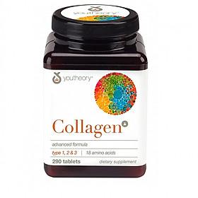 Thực phẩm chức năng Viên uống bổ sung Youtheory Collagen Type 1,2,3  (290 Viên) - Nhập khẩu Mỹ