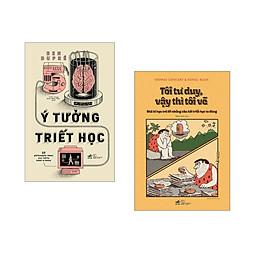 Combo 2 cuốn sách: 50 ý tưởng triết học  + Tôi tư duy vậy thì tôi vẽ