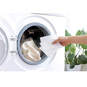Giấy Giặt Hút Màu Chống Nhuộm Chống Loang Lem Quần Áo Hàng Nội Địa Giấy Giặc Chống Phai Màu 24 miếng
