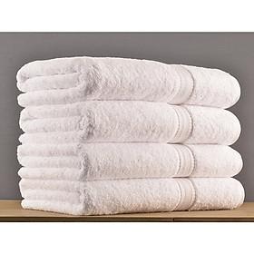 Khăn tắm dùng cho Spa, khách sạn - Màu Trắng - KT 65cmx135cm