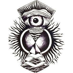 Hình Xăm Dán Con Mắt Quỷ QSA093
