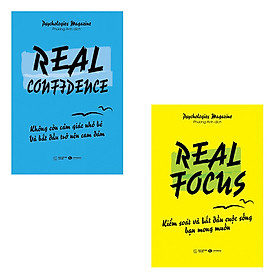 Bộ 2 cuốn sách kỹ năng sống nên đọc: Real Confidence Không Còn Cảm Giác Nhỏ Bé Và Bắt Đầu Trở Nên Can Đảm - Real Focus Kiểm Soát Và Bắt Đầu Cuộc Sống Bạn Mong Muốn
