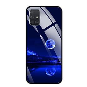 Ốp lưng kính cường lực cho Samsung Galaxy A71 - 03094 0269 MOON02 - Hàng Chính Hãng