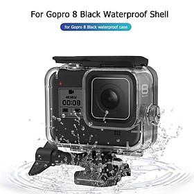 60m Underwater Waterproof Case for GoPro Hero 8 Protective Shell Cover Housing Black Camera Lens Filters Diving Swimming Set