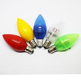 BỘ ĐÈN LED 10 TRÁI ỚT TIẾT KIỆM ĐIỆN (0.3W) ĐUÔI VẶN E12-220V.