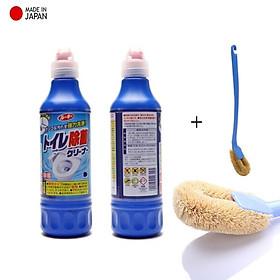 Combo 2 chai nước tẩy toilet đậm đặc 500ml + 1 cây chổi cọ toilet - made in Japan