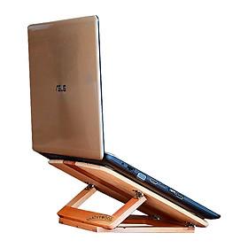 Kệ laptop thông minh có thể gấp gọn vào balô mang đi, kệ để laptop cho nhân viên văn phòng, giá kê laptop, giá đỡ laptop để bàn, kệ đỡ laptop bằng gỗ Nhatvywood NVLP05