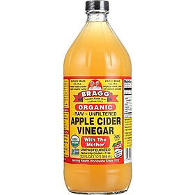 Giấm táo hữu cơ Organic Bragg (946ml)