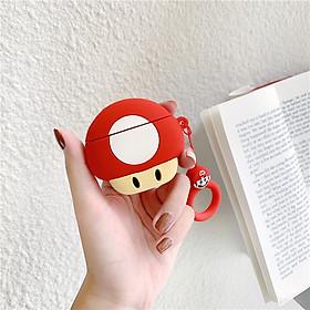 Bao Case Cho Airpods 1/ Airpods 2 / Airpods Pro Hình Nấm Mario