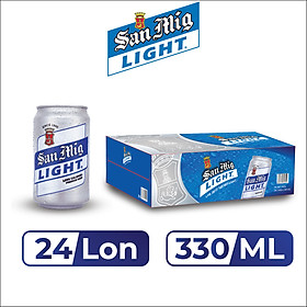Thùng 24 Lon Bia SAN MIGUEL Light 330 ml