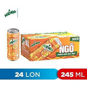 Thùng 24 Lon Nước Ngọt Có Gas Mirinda Cam (245ml/lon)