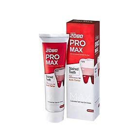 Kem đánh răng cao cao cấp chuyên biệt chống ê buốt răng nhạy cảm nhẹ 2080 PRO MAX SENSITIVE 125g - Hàn Quốc Chính Hãng