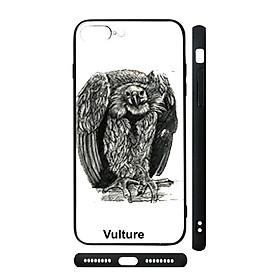 Hình đại diện sản phẩm Ốp kính cho iPhone in hình Animal 4D+ Vulture - con kền kền (có đủ mã máy)