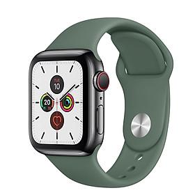 Dây đeo đồng hồ Apple Watch Series 1,2,3,4,5 chất liệu Silicon cao cấp màu xanh đậm (38/40mm và 42/44mm)  - Hàng chính hãng