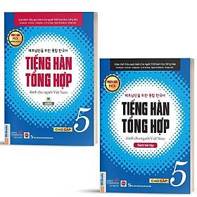 Sách - Combo Tiếng Hàn Tổng Hợp Dành Cho Người Việt Nam Cao Cấp 5 (Giáo trình + Sách Bài Tập) ( tặng kèm bookmark sáng tạo )