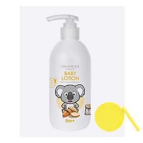 Sữa Dưỡng Da Dành Cho Bé Organique Baby Lotion (300ml) - Tặng Kèm Mút Rửa Mặt