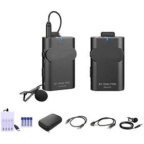 Micro không dây WM4 Pro K1 (FB142) (thế hệ mới) 48 kênh UHF sử dụng cho điện thoại, máy quay - Phạm vi hoạt động lên tới 60m - Sử dụng 04 pin sạc AA 1200mAh dung lượng cao