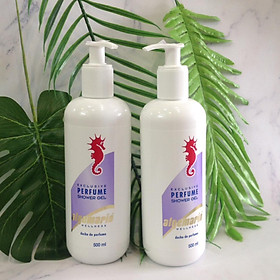 Combo 2 chai Sữa tắm cá ngựa Algemarin Perfume Shower Gel (500ml x 2)