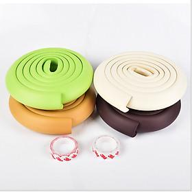 Cuộn bọc cạnh bàn ghế, cạnh tủ cao su non bảo vệ an toàn cho bé vui chơi trong nhà (2 mét) tặng kèm băng dính -giao màu ngẫu nhiên