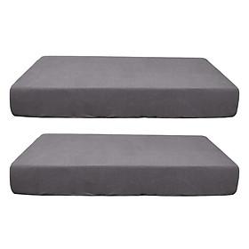 2/3/4pcs Stretch Spandex Jacquard Sofa Seat Cushion Covers