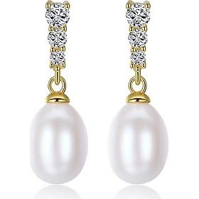 Bông Tai Ngọc Trai Cao Cấp B2355 Cỡ Hạt 7x9 Ly Bảo Ngọc Jewelry