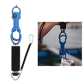 Fishing Pliers Grip Fish Lip Gripper Fish Controller Hook Remover Tool Blue