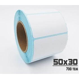 5 cuộn tem in trà sữa 50x30mm (30m) - Tem decal nhiệt
