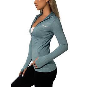 Áo khoác thể thao nữ vải dệt kim co dãn 4 chiều cao cấp