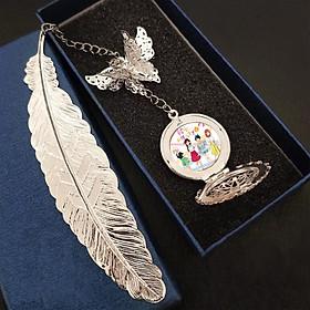 ( không kèm hộp ) Bookmark lông vũ gắn điệp Kanojo Okarishimasu DỊCH VỤ THUÊ BẠN GÁI anime chibi kim loại mỏng