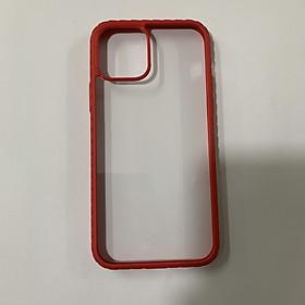 Ốp lưng Silicon trong suốt viền màu cho iPhone 12 Mini/ iPhone 12/ iPhone 12 Pro/ iPhone 12 Pro Max