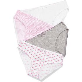 Combo 04 quần lót nữ cotton lưng cao họa tiết